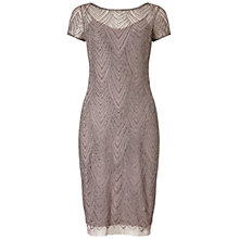 Buy Adrianna Papell Short Beaded Cocktail Dress, Stone Online at johnlewis.com