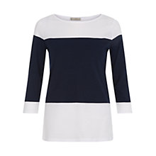 Buy Hobbs Angelica Stripe T-Shirt Online at johnlewis.com