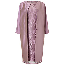 Buy Adrianna Papell Lace Sheath Dress And Long Duster Jacket, Purple Online at johnlewis.com
