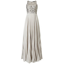 Buy Aidan Mattox Sleeveless Beaded Bodice Dress, Ash Grey Online at johnlewis.com