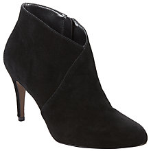 Buy John Lewis Odelia Stiletto Heel Ankle Boots, Black Suede Online at johnlewis.com