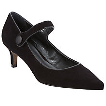 Buy John Lewis Abena Mary Jane Court Shoes, Black Suede Online at johnlewis.com