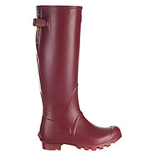 Buy Barbour Jarrow Wellington Boots, Burgundy Online at johnlewis.com