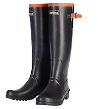 Buy Barbour Blyth Wellington Boots, Black Online at johnlewis.com