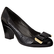 Buy John Lewis Abril Mid Heel Bow Court Shoes, Black Online at johnlewis.com