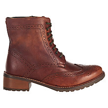 Buy Barbour Camden Lace Up Ankle Boots, Brown Online at johnlewis.com
