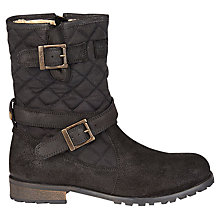 Buy Barbour Balham Quilted Calf Boots, Black Online at johnlewis.com