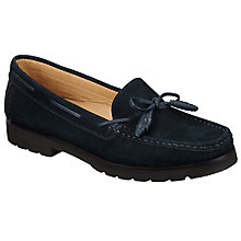 Buy John Lewis Giada Eva Low Heeled Tassel Moccasins, Navy Online at johnlewis.com