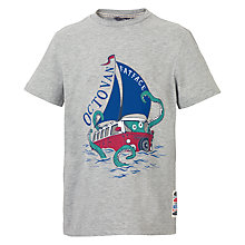 Buy Fat Face Boys' Octovan T-Shirt, Grey Online at johnlewis.com