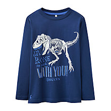 Buy Little Joule Boys' Junior Raymond Glow In The Dark Jersey Top, Blue Online at johnlewis.com