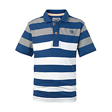 Buy Fat Face Boys' Bramley Polo Shirt, Indigo/Multi Online at johnlewis.com