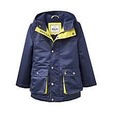 Buy Little Joule Boys' Junior Playground Coat, Navy Online at johnlewis.com