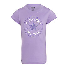 Buy Converse Girls' Chuck Patch T-Shirt, Lilac/White Online at johnlewis.com