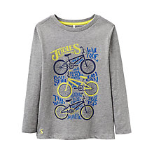 Buy Little Joule Boys' Junior Finlay Jersey Top, Grey Online at johnlewis.com