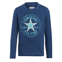 Buy Converse Boys' All Star Long Sleeve T-Shirt, Navy Online at johnlewis.com