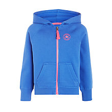 Buy Converse Girls' Core Hoodie, Blue/Multi Online at johnlewis.com