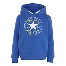 Buy Converse Boys' Chuck Popover Hoodie, Oxygen Blue Online at johnlewis.com