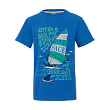 Buy Fat Face Boys' Wind Surf Print T-Shirt, Blue Online at johnlewis.com