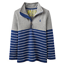 Buy Little Joule Boys' Dale Half Zip Sweatshirt, Navy/Grey Online at johnlewis.com
