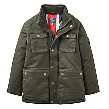 Buy Joules Boys' Wax Style Barnham Jacket, Evergreen Online at johnlewis.com