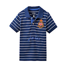 Buy Little Joule Boys' Junior Harry Polo Shirt, Navy Online at johnlewis.com