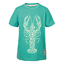 Buy Fat Face Boys' Short Sleeve Lobster Glow T-Shirt, Green Online at johnlewis.com