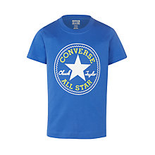 Buy Converse Boys' Chuck Patch T-Shirt, Oxygen Blue Online at johnlewis.com