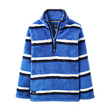 Buy Little Joule Boys' Woozle Half Zip Fleece, Blue Online at johnlewis.com