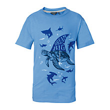 Buy Fat Face Boys' Dream Big T-Shirt, Blue Online at johnlewis.com