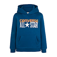 Buy Converse Boys' All Star Pullover Hoodie, Blue Lagoon Online at johnlewis.com
