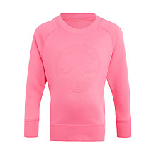 Buy Converse Girls' Embossed Logo Tunic Sweatshirt, Pink Online at johnlewis.com