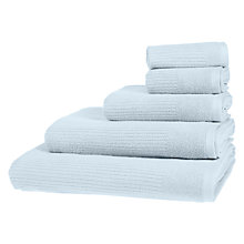 Buy John Lewis House Rib Weave Towels, Lido Online at johnlewis.com