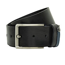 Buy Ted Baker Keepsak Contrast Detail Leather Belt, Black Online at johnlewis.com
