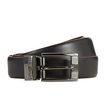 Buy Ted Baker Zazza Reversible Leather Belt, Black Online at johnlewis.com