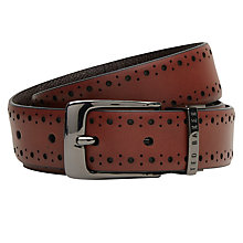 Buy Ted Baker Brogue Detail Belt, Tan Online at johnlewis.com