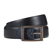 Buy Ted Baker Campbel Reversible Leather Belt, Black/Red Online at johnlewis.com