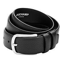 Buy Duchamp Classic Leather Belt, Black Online at johnlewis.com