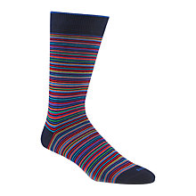 Buy Duchamp Platinum Stripe Socks, Ink Online at johnlewis.com