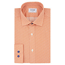 Buy Duchamp Tiny Floral Print Tailored Fit Shirt, Orange Online at johnlewis.com