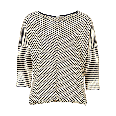 Betty & Co. Chevron Stripe Top, Nature Dark Blue