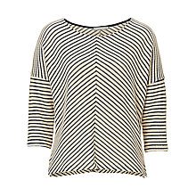 Buy Betty Barclay Chevron Stripe Top, Nature Dark Blue Online at johnlewis.com
