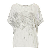 Buy Betty Barclay Marble Print Top, Cream/Silver Online at johnlewis.com