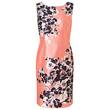 Buy Jacques Vert Petite Floral Print Dress, Orange/Multi Online at johnlewis.com