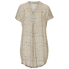 Buy Betty & Co. V-Neck Printed Tunic Top, Reed/Dark Green Online at johnlewis.com