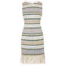 Buy Karen Millen Fringed Tweed Collection Dress, Multi Online at johnlewis.com