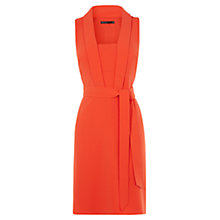 Buy Karen Millen Tie Belt Dress, Orange Online at johnlewis.com