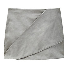 Buy Mango Satin Wrap Skirt, Silver Online at johnlewis.com