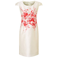 Buy Jacques Vert Petite Placement Print Dress, Cream/Red Online at johnlewis.com