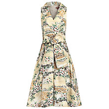 Buy Jolie Moi Retro Print Shawl Collar Dress, Multi Online at johnlewis.com