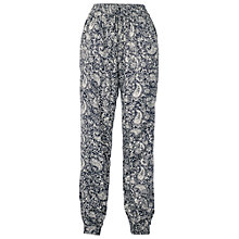 Buy Fat Face Trinidad Print Trousers, Black Online at johnlewis.com